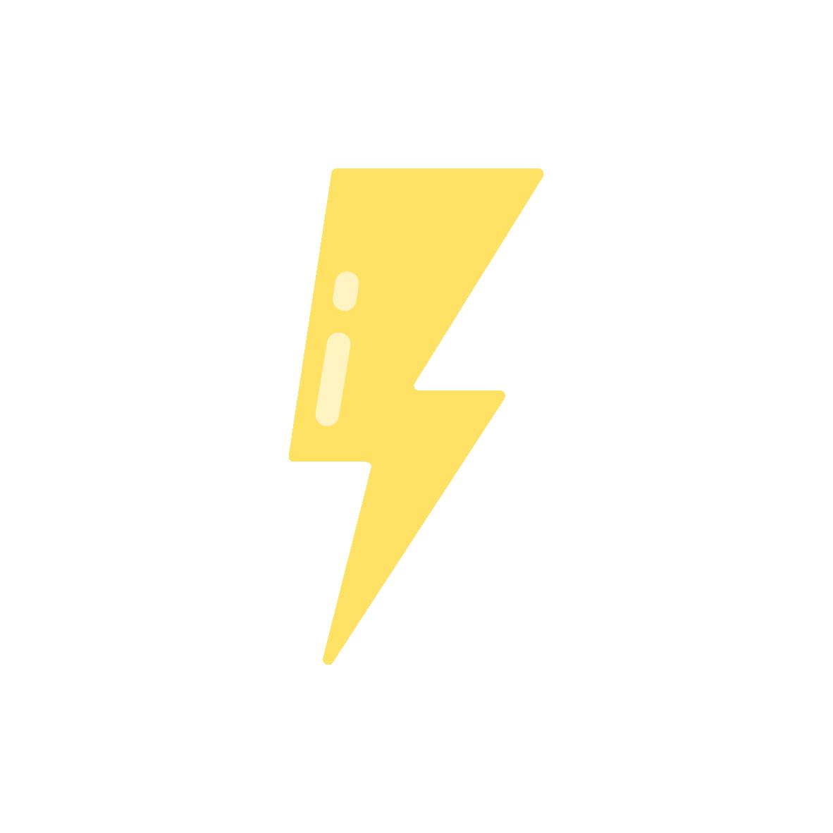 Lightning bolt pictogram